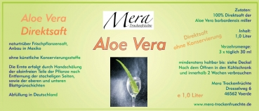 mera 1 liter aloe vera direktsaft. Black Bedroom Furniture Sets. Home Design Ideas
